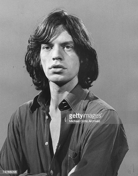 Singer Mick Jagger of the rock and roll band 'The Rolling Stones' poses for a portrait in circa 1970