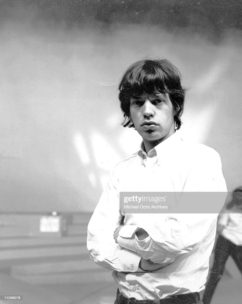 Singer Mick Jagger of the rock and roll band 'The Rolling Stones' poses for a portrait in circa 1966.