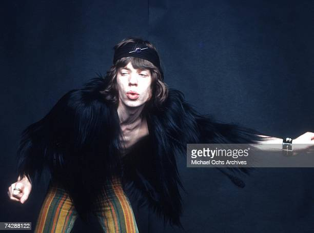 Singer Mick Jagger of the rock and roll band The Rolling Stones poses for a portrait session in circa 1969