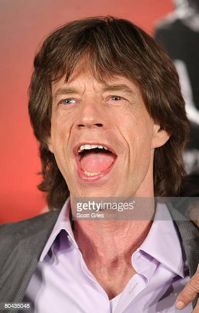 Singer Mick Jagger of the Rolling Stones during Paramount Pictures' press conference for Shine A Light at the New York Palace Hotel on March 30 2008...