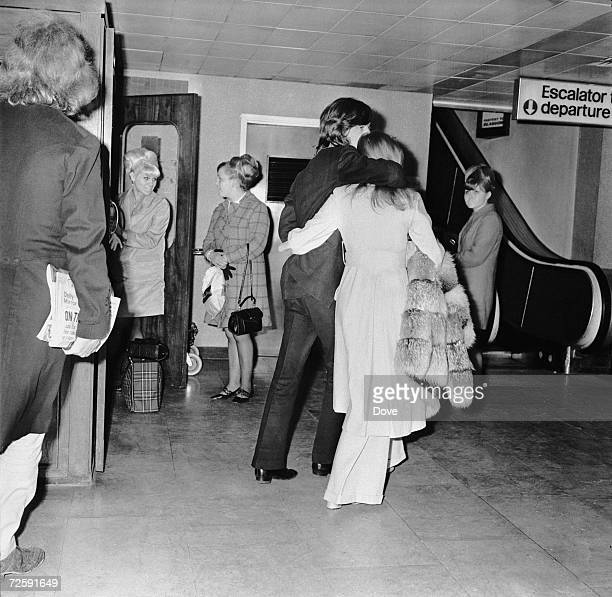 Mick jagger marianne faithfull pictures and photos getty images singer mick jagger of the the rolling stones with marianne faithfull at london airport 15th april altavistaventures Image collections