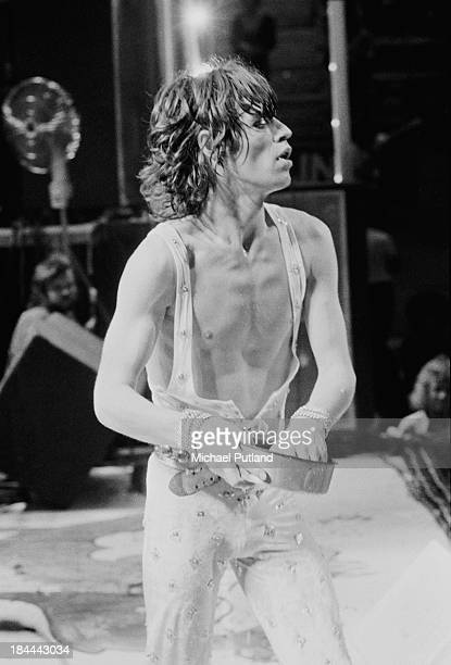 Singer Mick Jagger performing with the Rolling Stones at the Sportpaleis AHOY Rotterdam Netherlands 13th14th October 1973 The group played three...