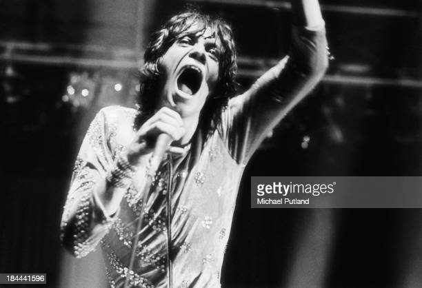 Singer Mick Jagger performing with the Rolling Stones at the Olympiahalle Munich Germany 28th September 1973
