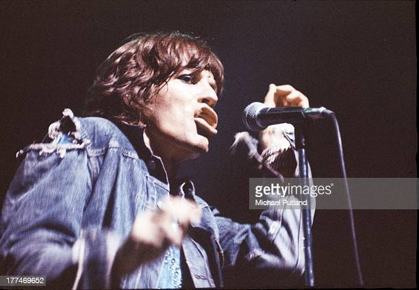 Singer Mick Jagger performing with the Rolling Stones during the group's 1973 European Tour