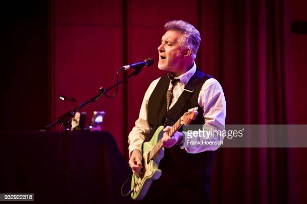 Singer Mick Rogers of the British Manfred Mann's Earth Band performs live on stage during a concert at the ErnstReuterSaal on March 16 2018 in Berlin...
