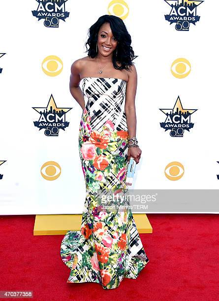Singer Mickey Guyton attends the 50th Academy of Country Music Awards at ATT Stadium on April 19 2015 in Arlington Texas