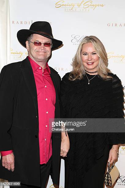Singer Micky Dolenz of The Monkees and wife Donna Quinter arrive at the 21st ELLA Awards at The Beverly Hilton Hotel on February 20 2014 in Beverly...