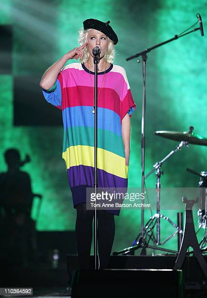 Singer Micky Green performs on stage during the Les Victoires de la Musique at the Le Zenith on February 28 2009 in Paris France