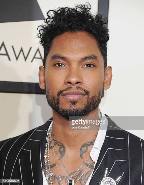 Singer Miguel arrives at The 58th GRAMMY Awards at Staples Center on February 15 2016 in Los Angeles California