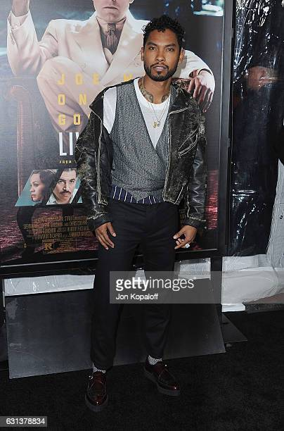 Singer Miguel arrives at the Premiere of Live By Night at TCL Chinese Theatre on January 9 2017 in Hollywood California