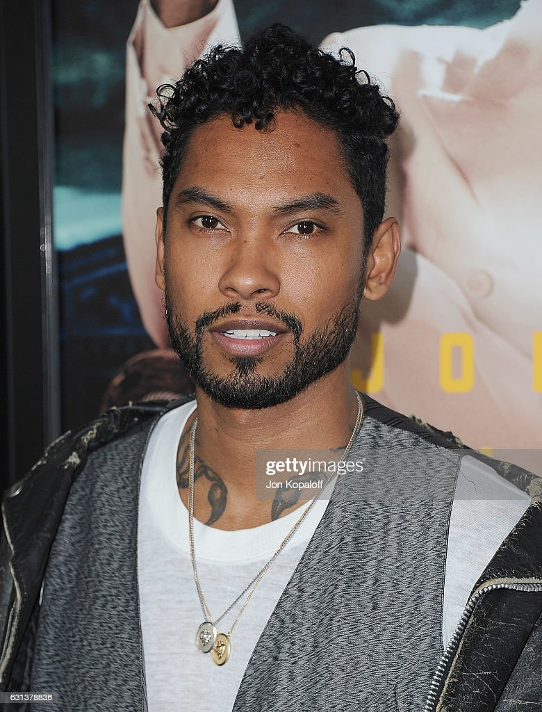 Singer Miguel arrives at the Premiere of 'Live By Night' at TCL Chinese Theatre on January 9, 2017 in Hollywood, California.