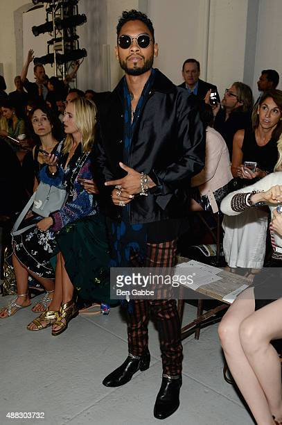 Singer Miguel attends Rodarte Spring 2016 during New York Fashion Week at Center 548 on September 15 2015 in New York City
