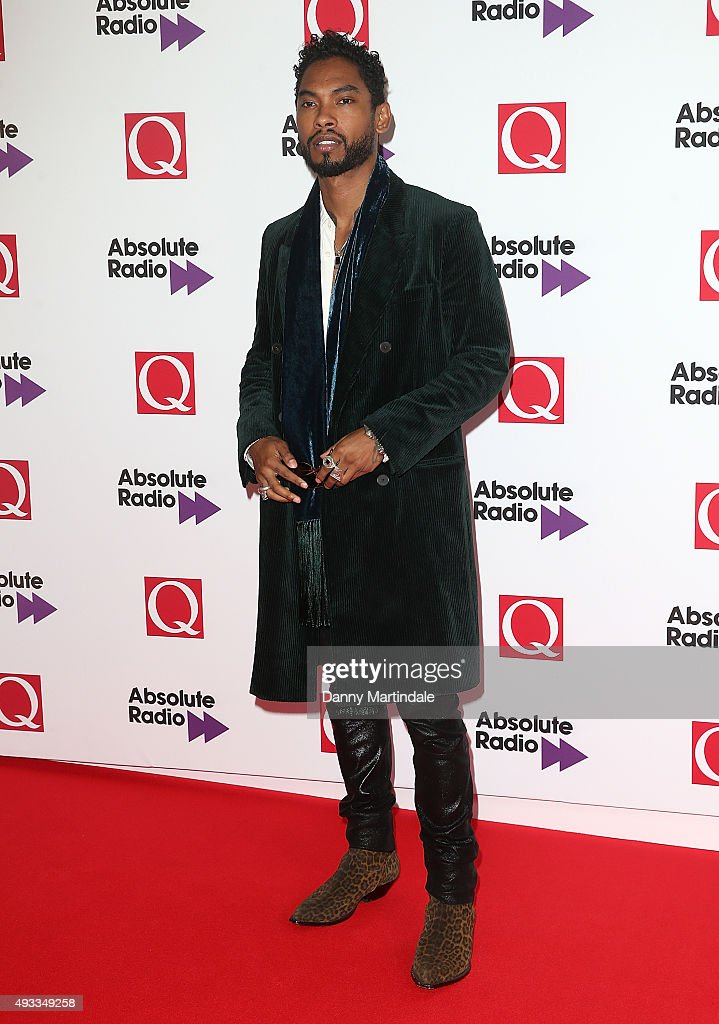 Singer Miguel attends the Q Awards at The Grosvenor House Hotel on October 19, 2015 in London, England.