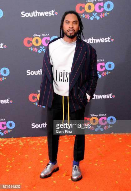 Singer Miguel attends the US Premiere of Disney Pixar's 'Coco' at El Capitan Theatre on November 8 2017 in Los Angeles California