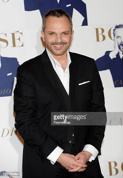 Singer Miguel Bose attends a photocall to present his new album 'Cardio' at Casa de America on March 8 2010 in Madrid Spain