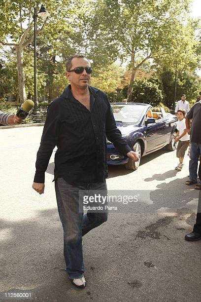 Singer Miguel Bose attends the Madrid Fashion Week Pasarela Cibeles at Parque el Retiro on September 19 2007 in Madrid Spain