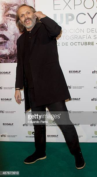 Singer Miguel Bose attends 'Upcycling' Photogrpahy competition party photocall at EFTI School on October 22 2014 in Madrid Spain