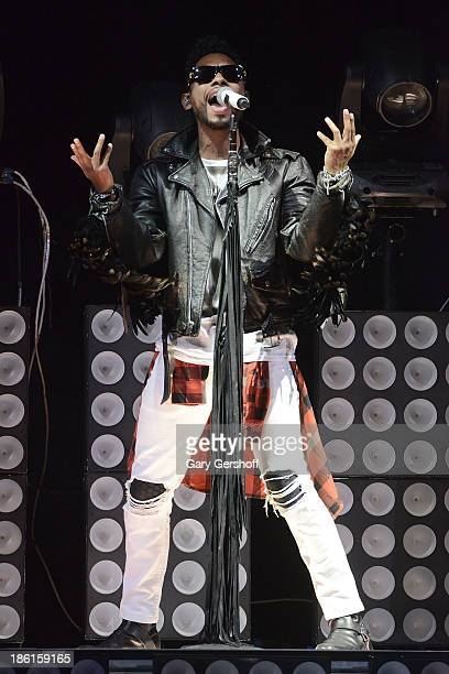 Singer Miguel performs at the 'Would You Like A Tour' Concert at Barclays Center on October 28 2013 in New York City