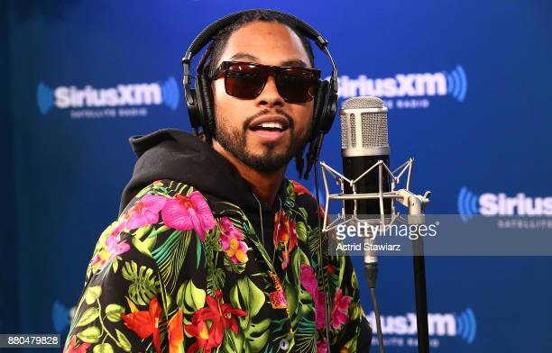 Singer Miguel performs on SiriusXM's The Heat channel on November 27 2017 in New York City