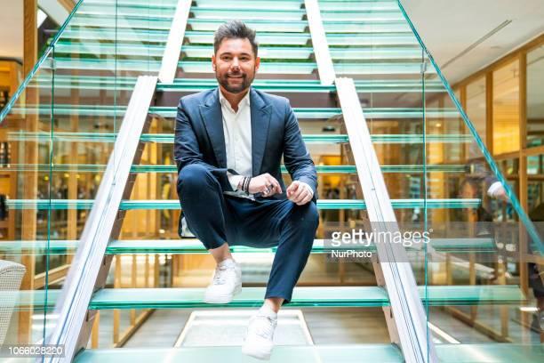 Singer Miguel Poveda presents new album 'El tiempo pasa volando' at Urso hotel on November 27 2018 in Madrid Spain Presents New Album