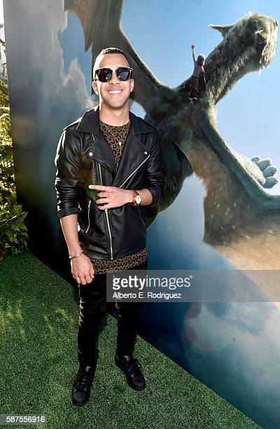 Singer Miguelito arrives at the world premiere of Disney's 'PETE'S DRAGON' at the El Capitan Theater in Hollywood on August 8 2016 The new film which...