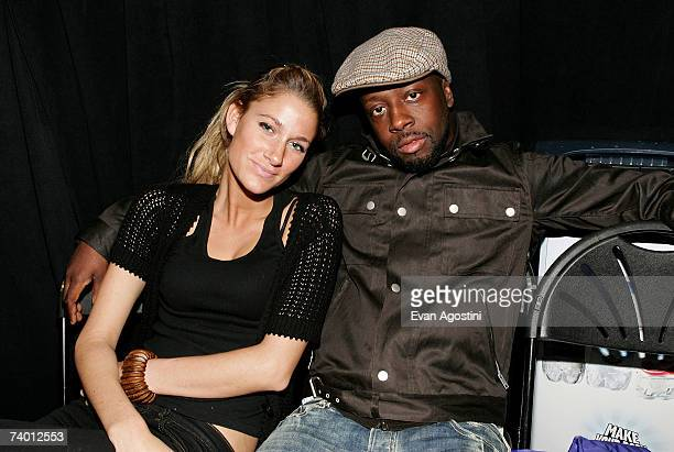 Singer Miia and Recording artist Wyclef Jean attend the Tribeca Film Institute Screening of the Angelina Jolie directed film 'A Place In Time' at the...