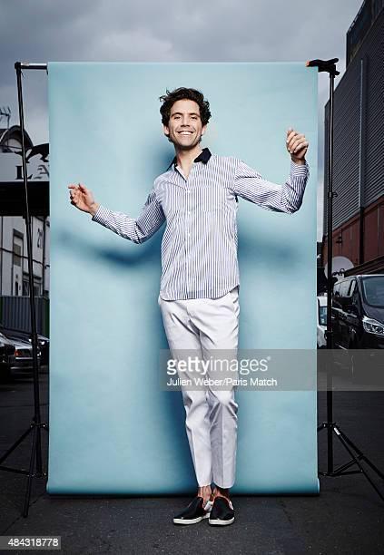 Singer Mika is photographed for Paris Match on April 25 2015 in Paris France