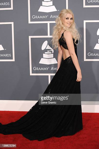 Singer Mika Newton arrives at The 54th Annual GRAMMY Awards at Staples Center on February 12, 2012 in Los Angeles, California.