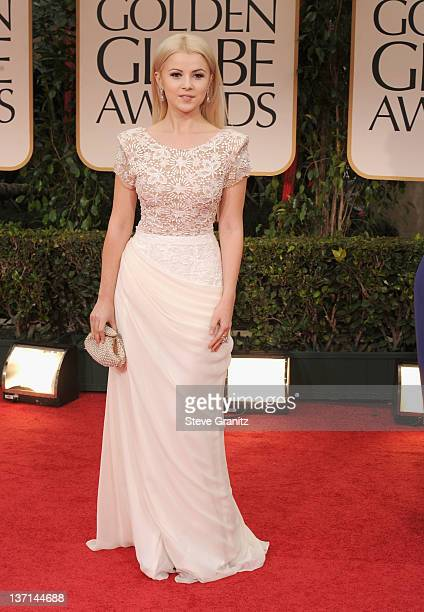 Singer Mika Newton arrives at the 69th Annual Golden Globe Awards held at the Beverly Hilton Hotel on January 15 2012 in Beverly Hills California