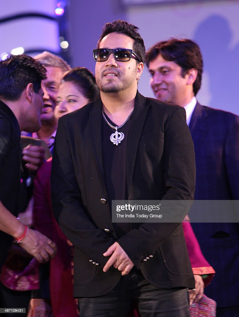 Singer Mika Singh during designer Manish Malhotras fashion show to support the cause of saving and empowering the female child in Mumbai.