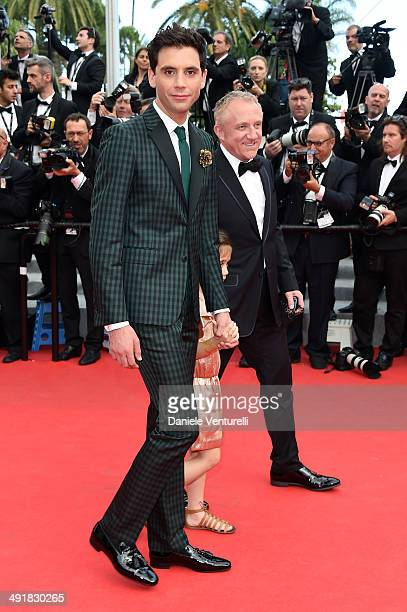Singer Mika Valentina Paloma Pinault and FrancoisHenri Pinault attend the 'Saint Laurent' Premiere at the 67th Annual Cannes Film Festival on May 17...