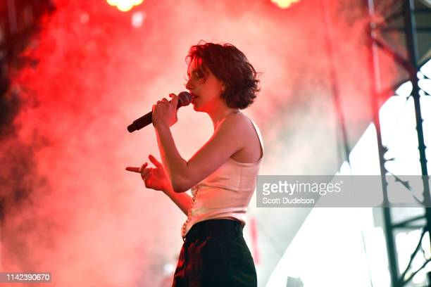 Singer Mikaela Straus of the band King Princess performs onstage during Weekend 1 Day 1 of the 2019 Coachella Valley Music and Arts Festival on April...