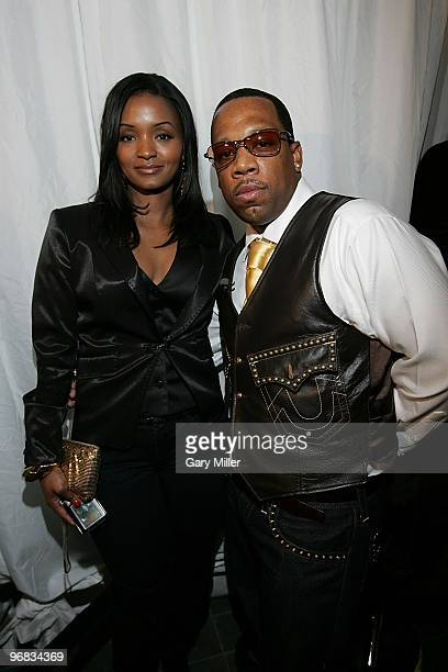 Singer Mike Bivins and hiw wife Teasha Bivins on the red carpet at the 4th annual Two Kings Dinner hosted by JayZ and LeBron James at the W Dallas on...