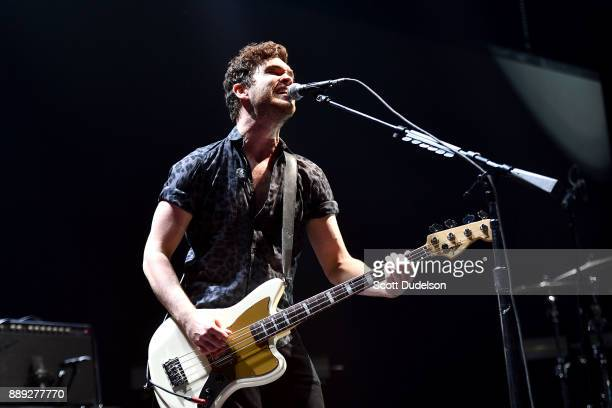 Singer Mike Kerr of the band Royal Blood performs onstage during KROQ Almost Acoustic Christmas 2017 at The Forum on December 9 2017 in Inglewood...