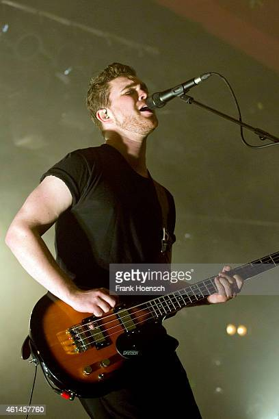 Singer Mike Kerr of the British band Royal Blood performs live during a concert at the Astra on January 12 2015 in Berlin Germany