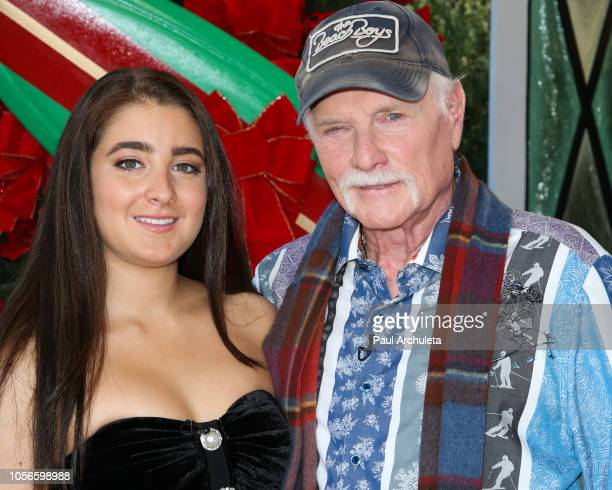 Singer Mike Love and his Daughter Singer Ambha Love visit Hallmark's 'Home Family' at Universal Studios Hollywood on November 2 2018 in Universal...