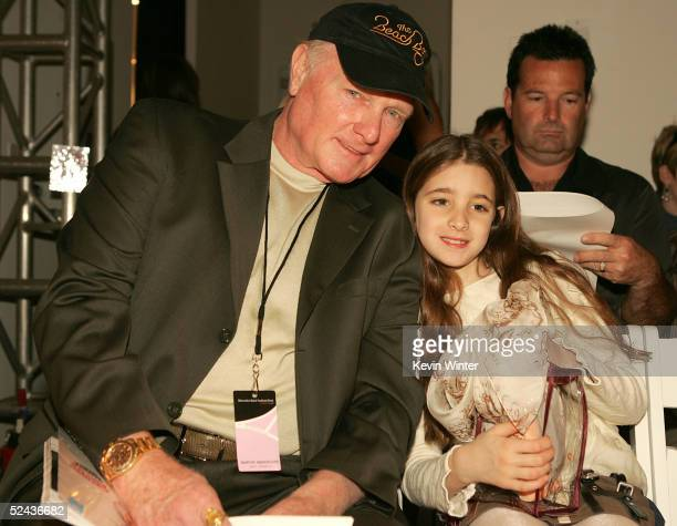 Singer Mike Love his daughter Ambha attend the Shakti By Jacquelyne Love Fall 2005 show during the MercedesBenz Fashion Week at Smashbox Studios...