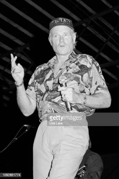 Singer Mike Love of The Beach Boys performs at Allentown Fairgrounds on September 2, 1992 in Allentown, Pennsylvania.