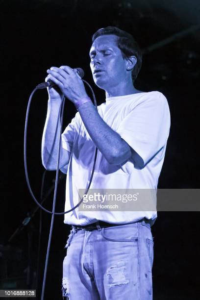 Singer Mike Milosh of the American band Rhye performs live on stage during a concert at the Astra on August 14 2018 in Berlin Germany