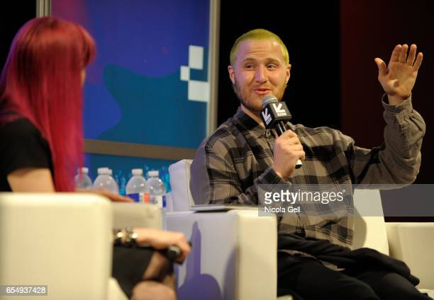 Singer Mike Posner speaks onstage at 'A Conversation With Mike Posner' during 2017 SXSW Conference and Festivals at Austin Convention Center on March...