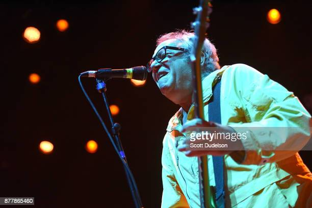 Singer Mike Watt formerly of The Mintuemen and Firehose performs an opening set with his band The Secondmen during X 40th anniversary tour at The...