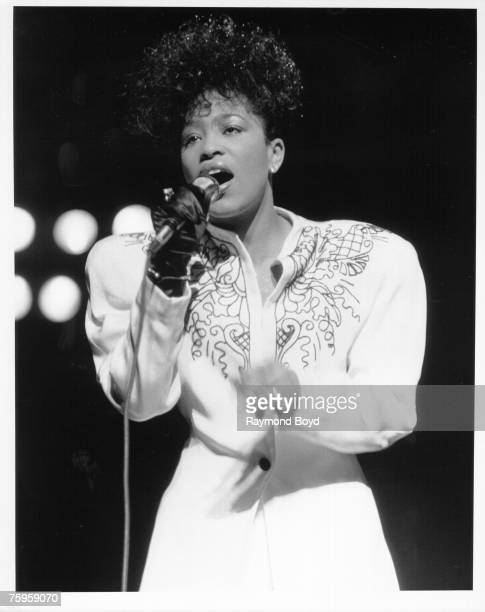 R and B singer Miki Howard performs live in February 1989 in Chicago Illinois