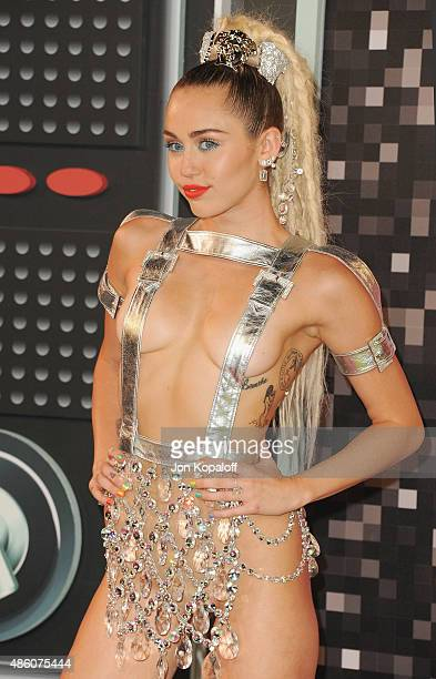 Singer Miley Cyrus arrives at the 2015 MTV Video Music Awards at Microsoft Theater on August 30 2015 in Los Angeles California