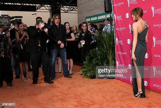 Singer Miley Cyrus arrives at the 44th annual Academy Of Country Music Awards held at the MGM Grand on April 5 2009 in Las Vegas Nevada