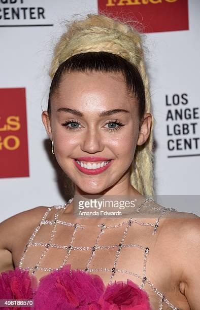 Singer Miley Cyrus arrives at the 46th Anniversary Gala Vanguard Awards at the Hyatt Regency Century Plaza on November 7 2015 in Los Angeles...