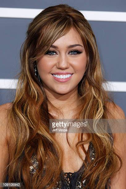 Singer Miley Cyrus arrives at The 53rd Annual GRAMMY Awards held at Staples Center on February 13 2011 in Los Angeles California