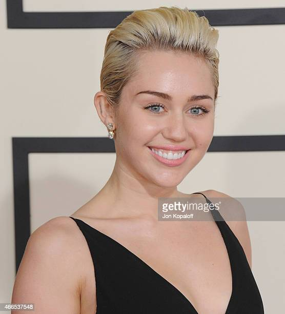 Singer Miley Cyrus arrives at the 57th GRAMMY Awards at Staples Center on February 8 2015 in Los Angeles California