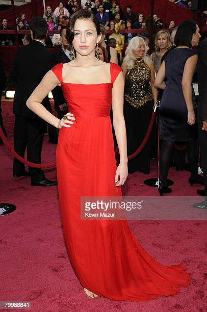 Singer Miley Cyrus arrives at the 80th Annual Academy Awards at the Kodak Theatre on February 24 2008 in Hollywood