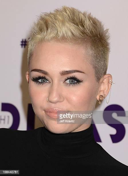 Singer Miley Cyrus arrives at VH1 Divas 2012 at The Shrine Auditorium on December 16 2012 in Los Angeles California