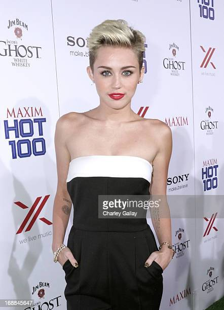 Singer Miley Cyrus attends a celebration with Sony X Headphones at Maxim's Hot 100 at Create Nightclub on May 15 2013 in Los Angeles California